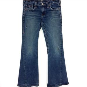 True Religion Distressed Joey Jeans with Flare